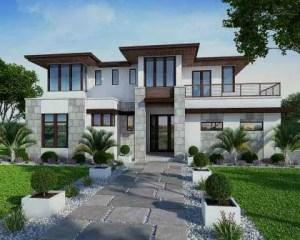 Construção de moradia de luxo