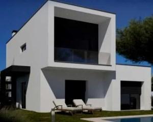 Construção de casa de luxo fachada