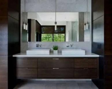 ea62a2997ee2 Móveis de casa de banho remodelação. Móvel com dois lavatórios suspensos.
