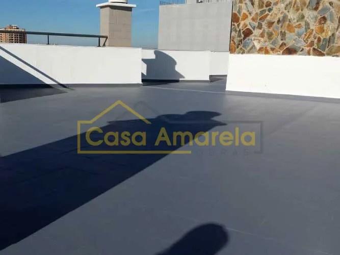 Impermeabilização de terraço com tela líquida