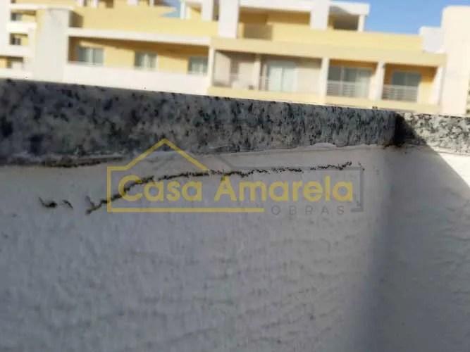 Impermeabilização de terraço fissura