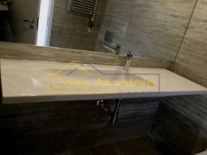 Remodelação de casa de banho no Porto lavatório