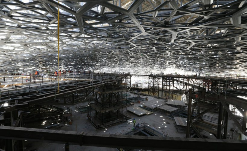 Obras Louvre Abu Dhabi - Jean Nouvel - Imagem Grupo San Jose SA