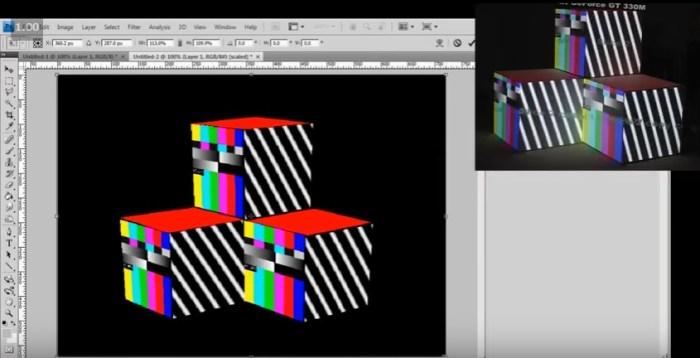 Video Mapping Tutorial - Casa Ao Cubo - Imagem: Print Screen VJFIT