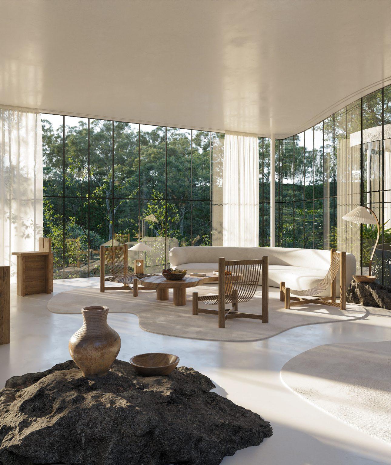 Casa Atibaia: una casa en la selva que integra la naturaleza en su diseño brutal