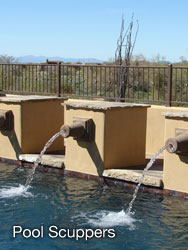 Pool Scuppers - Casa de Cantera