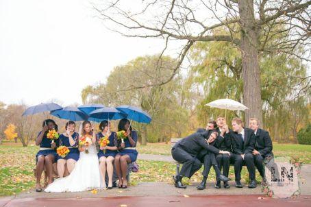 casamento chuva padrinhos madrinhas 3