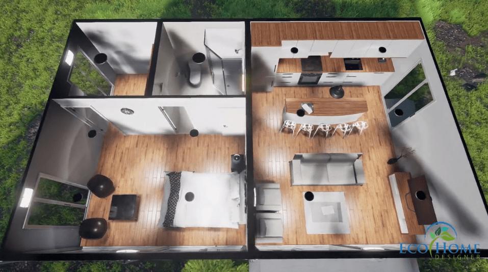 Casa 4 containere modulare
