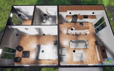 Casa contanier – 4 containere