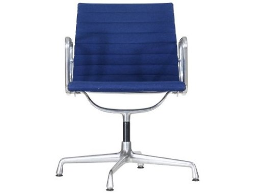 Vitra Eames EA108 blue hopsak aluminium group chair 2a