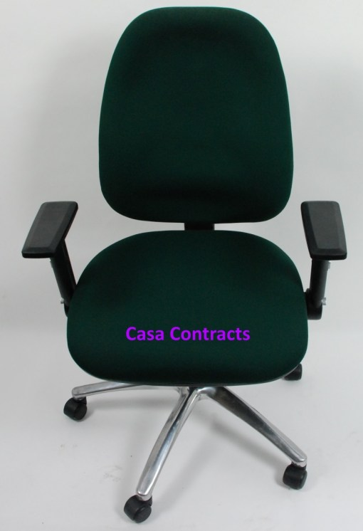 ESE chair Green fabric base and back 1a