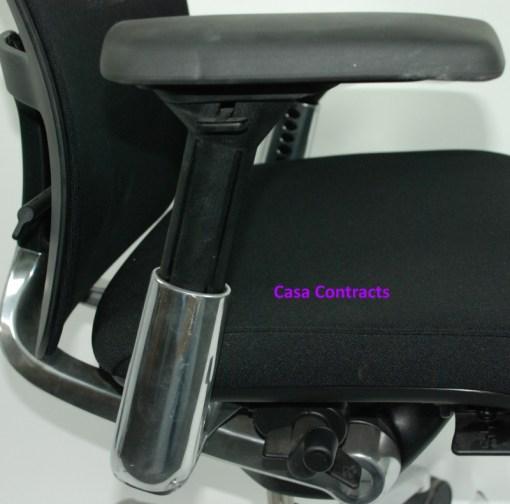 Haworth Zody chair Black fabric base Black mesh back 12