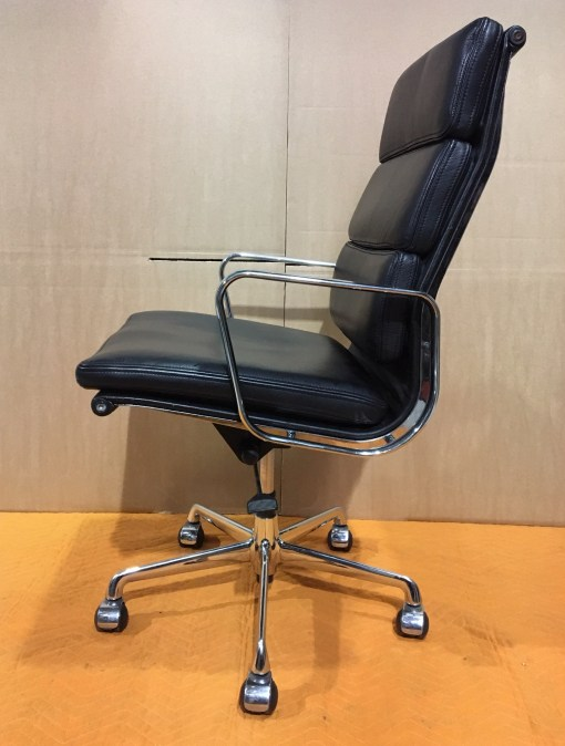 ICF Eames EA219 Black leather high back 2
