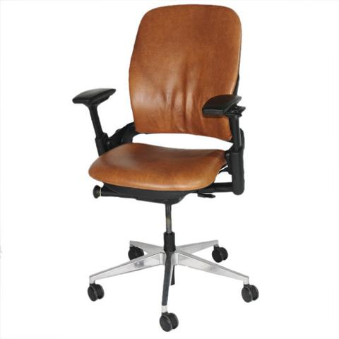 Steelcase_Leap_V2_Chair_with_aluminium_base_in_new_tan_leather_large