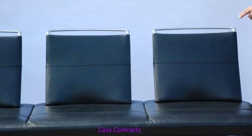 Vitra Area sofa 3 seater black leather 4