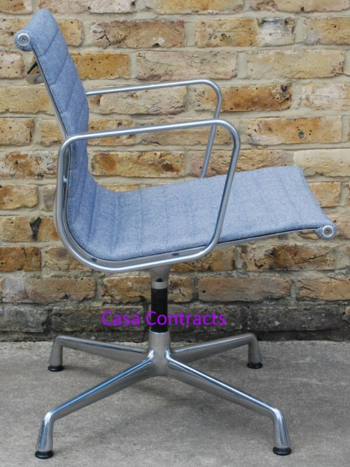 Vitra Eames EA108 Ice Blue Hopsak Aluminium Group Chair 5