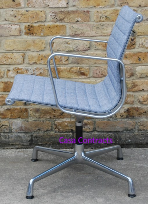 Vitra Eames EA108 Ice Blue Hopsak Aluminium Group Chair 8