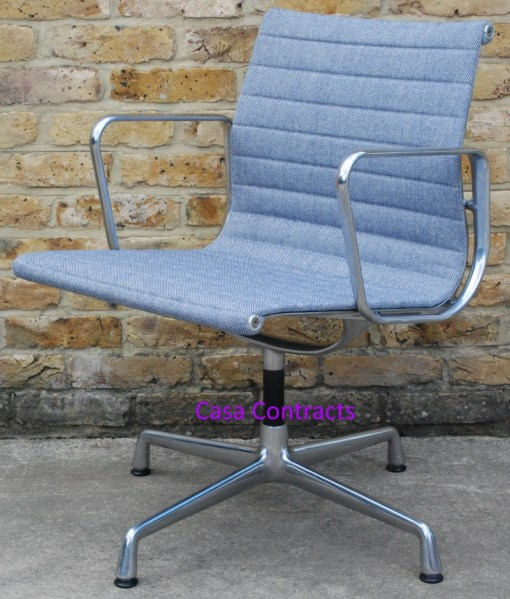 Vitra Eames EA108 Ice Blue Hopsak Aluminium Group Chair 9