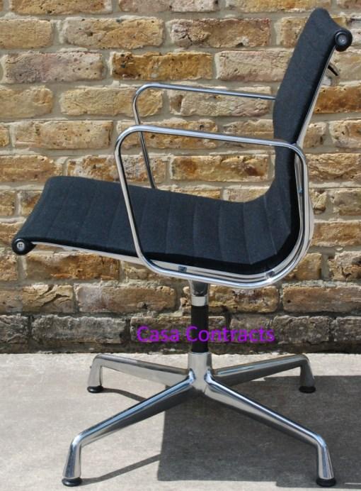 Vitra Eames EA108 Black Hopsak Aluminium Group Chair 5