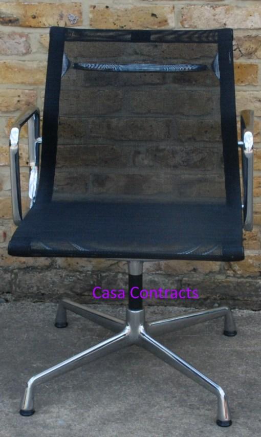 Vitra Eames EA108 Aluminium Chair Black Mesh 1