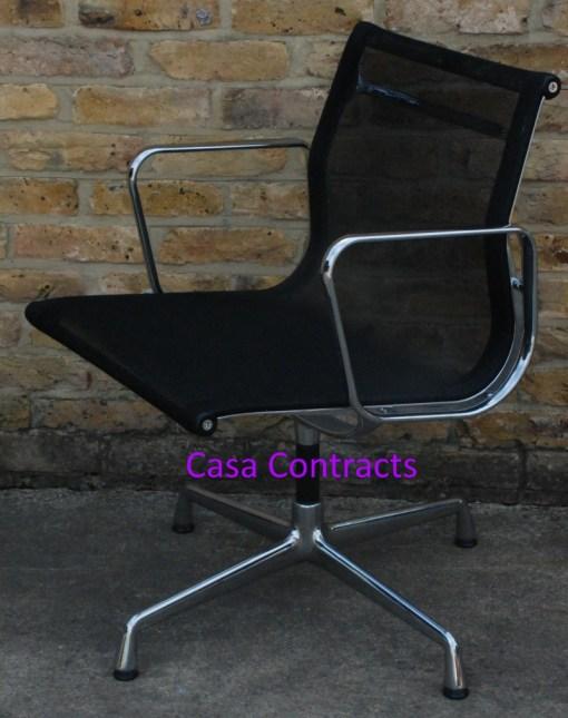 Vitra Eames EA108 Aluminium Chair Black Mesh 2