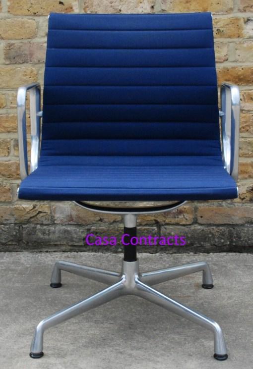 Vitra Eames EA108 Blue Hopsak Aluminium Group Chair 1