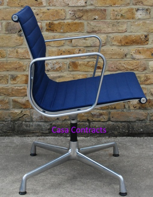 Vitra Eames EA108 Blue Hopsak Aluminium Group Chair 2