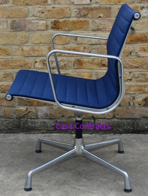 Vitra Eames EA108 Blue Hopsak Aluminium Group Chair 5
