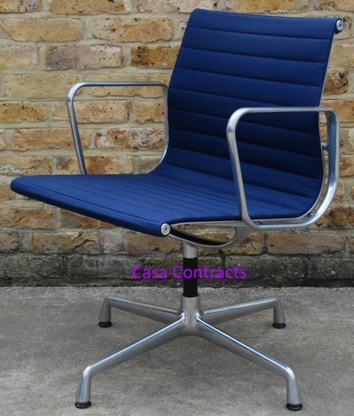 Vitra Eames EA108 Blue Hopsak Aluminium Group Chair 6