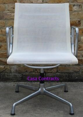 Vitra Eames EA108 White Mesh Aluminium Group Chair 1