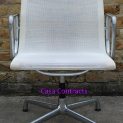 Vitra Eames EA108 White Mesh Aluminium Group Chair 1