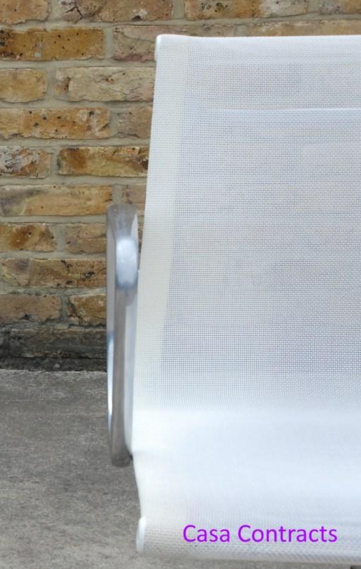 Vitra Eames EA108 White Mesh Aluminium Group Chair 7