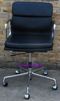 Vitra Eames EA217 Soft Pad Black Leather 1