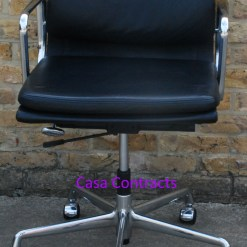 Vitra Eames EA217 Soft Pad Black Leather 1
