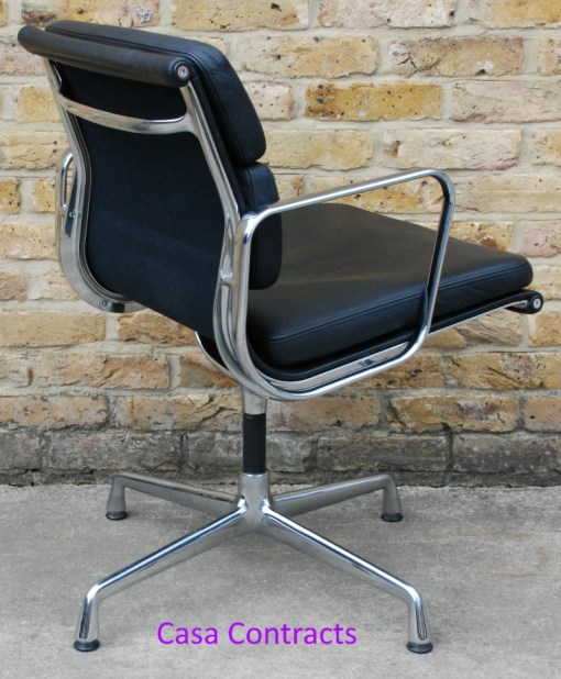 Vitra Eames EA208 black leather Soft Pad Chair 8