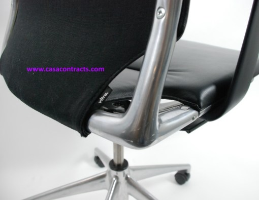Vitra Meda chair leather adjustable arms 10a