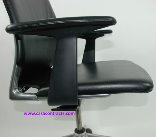 Vitra Meda chair leather adjustable arms 11a