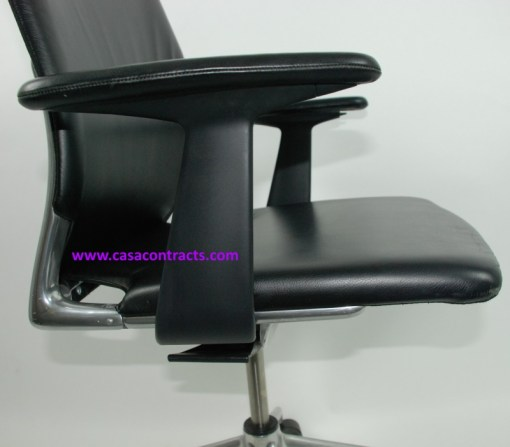 Vitra Meda chair leather adjustable arms 11b