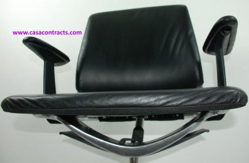 Vitra Meda chair leather adjustable arms 14a