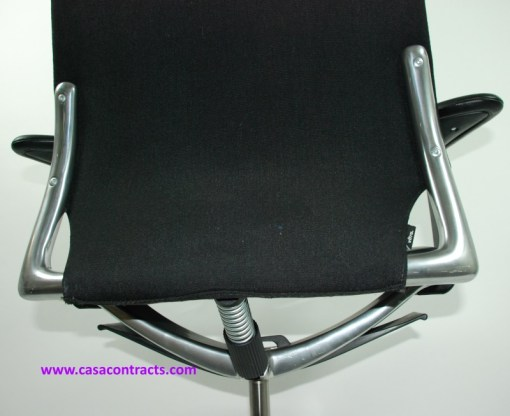 Vitra Meda chair leather adjustable arms 15a