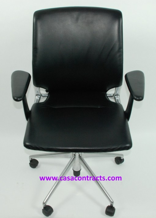 Vitra Meda chair leather adjustable arms 1a