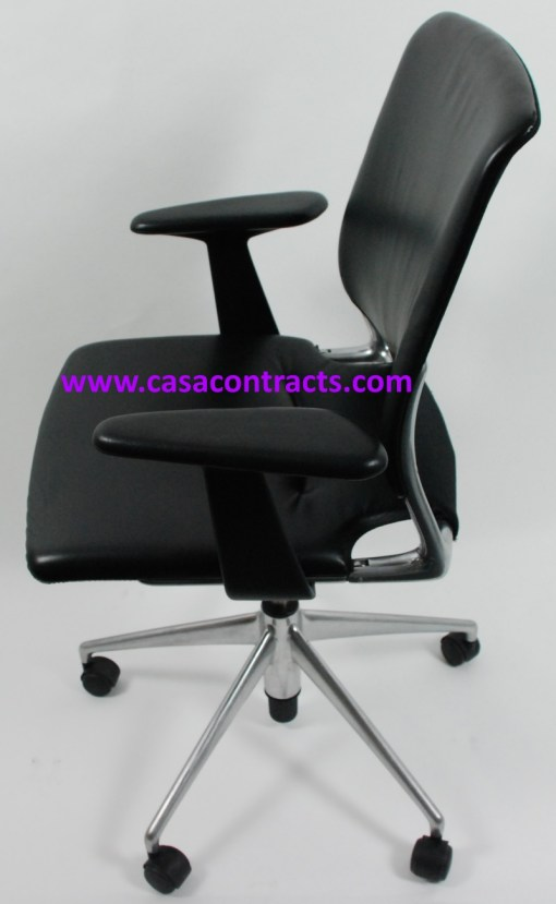 Vitra Meda chair leather adjustable arms 3b