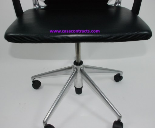 Vitra Meda chair leather adjustable arms 8b