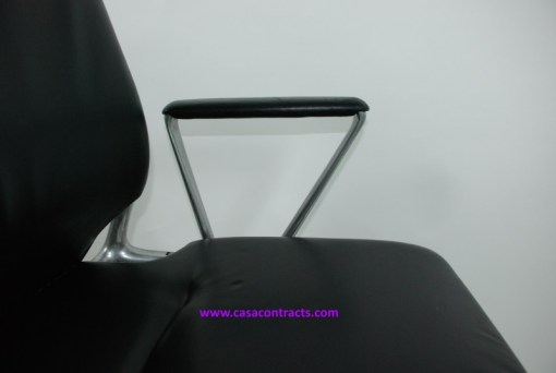 Vitra Meda chair leather fixed arms 6a