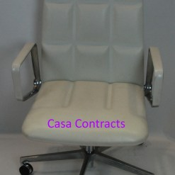 Walter Knoll white leather executive LEAD chair