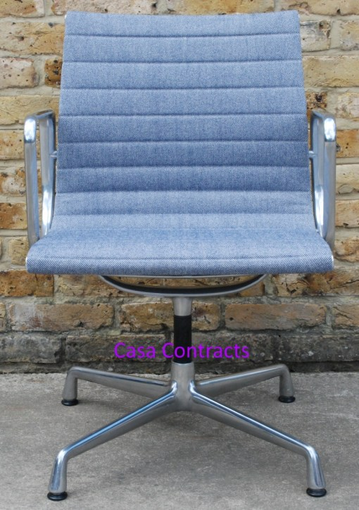 Vitra Eames EA108 Ice Blue Hopsak Aluminium Group Chair 2