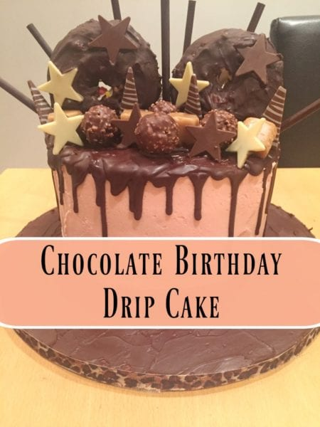 30th Birthday Chocolate Drip Cake BakeoftheWeek Casa