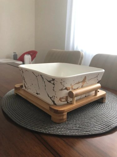 Marble Pattern Square Bowl photo review