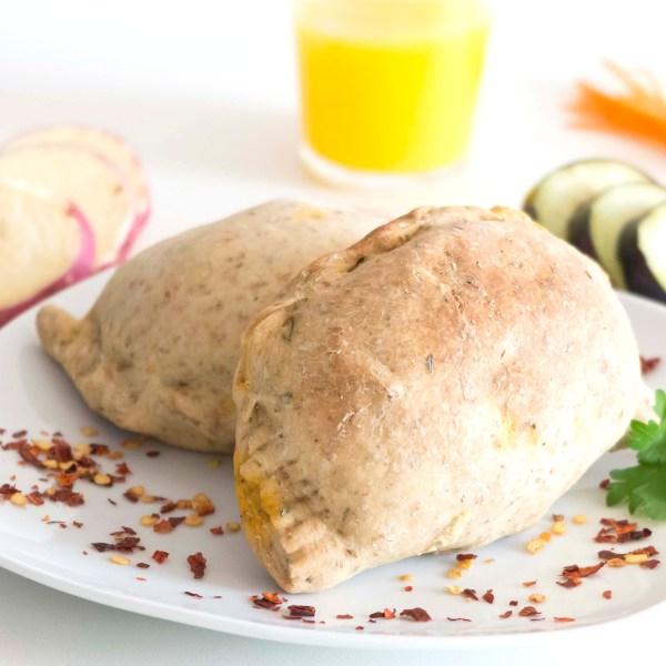 Samossa de legumes com grão de bico