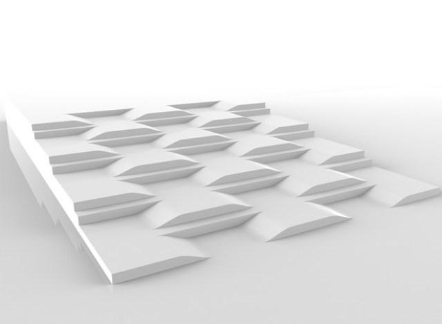 Projeto mistura rampas e escadas (Foto: Reprodução/Behance)